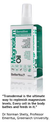 Other Health Brands : BetterYou Natural Health Products : Magnesium Oil Sensitive Skin Spray  100ml