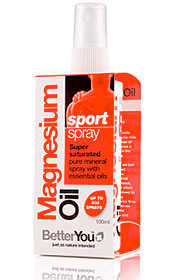 Other Health Brands : BetterYou Natural Health Products : Magnesium Oil Sport Spray 100ml