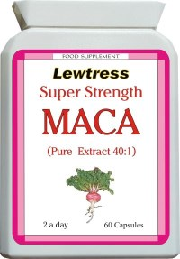 Lewtress Super Strength Maca Extract Capsules