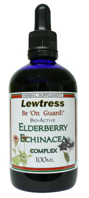 Herbal Supplements : Anti Viral - Natural Immune Support : Lewtress Elderberry Echinacea Complex